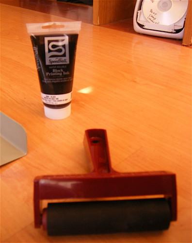 Ink and Linoleum Block Roller (Brayer)