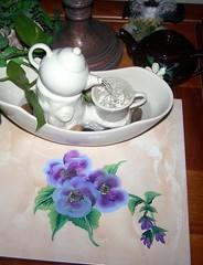 Tile with Teapot Fountain