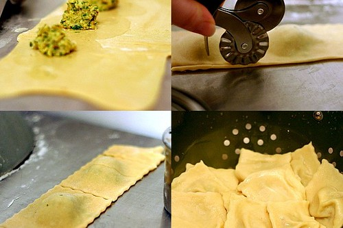 making artichoke ravioli