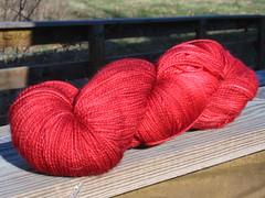 fleece artist red sock yarn