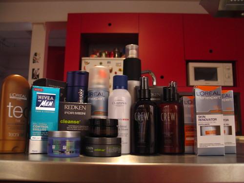 cosmeticos en el armario