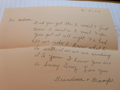 One of my grandparents' notes