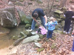 Dad teaching about erosion