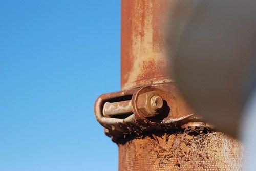 Rusty Pipe in Macro