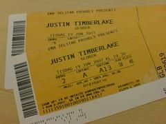 Vi har biljetter till Justin