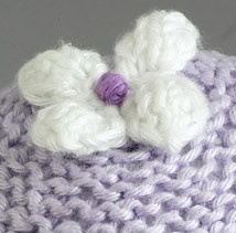 A wee cute flower!  Perfect for embellishing other projects.