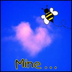 Bee mine...  valentine card