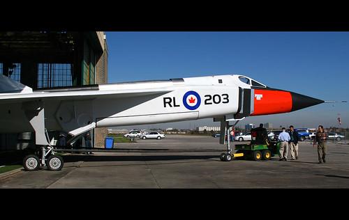 Egy Arrow replika, amelyet a torontoi Aerospace Museumban állítottak ki és 2006-ban egy bemutatóra kivontatták a repülőtér betonjára