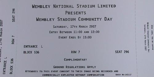 Wembley Stadium Community Day Ticket