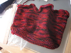 Purse, waiting to be felted