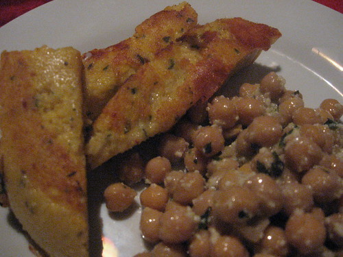 grilled polenta with feta cheese and kidney bean salad 2