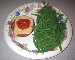March 22 dinner - NutriSystem burger, & green ...