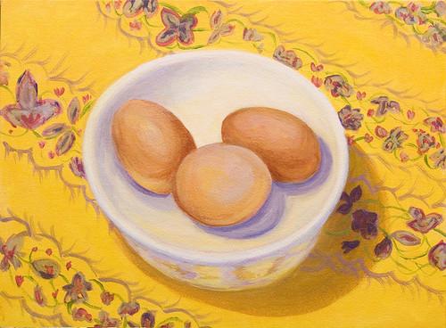 Eggs-acrylic