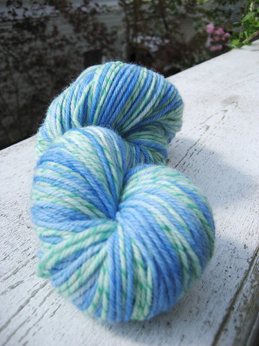 green/blue twist