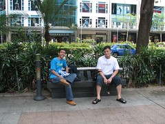 At the Orchard Road Sidewalk