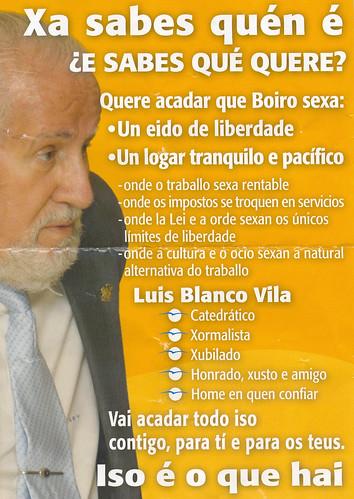 Cartel de Blanco Vila
