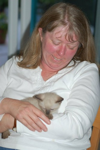 Laura with kitten