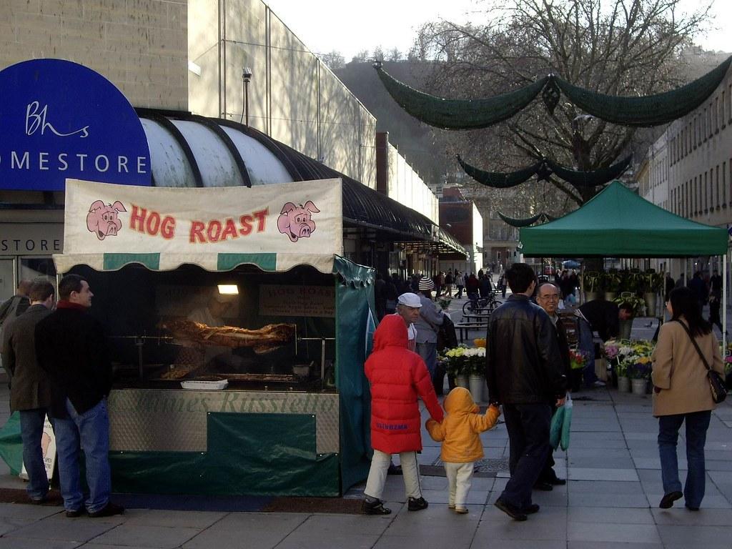 070114.10.Somset.Bath.HorseSt.Market'sPassageway.Hog Roast