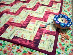 Split Rail Fence Quilt Signature Block