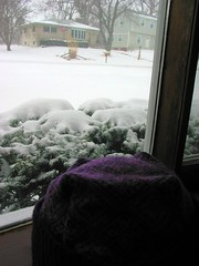 hat and snow