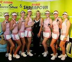 Sharapova look-alike contest - Indian Wells