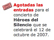 Entradas Heroes del Silencio