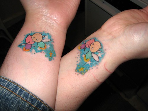 get matching BFF tattoos to let your best friend know how rockin' she is