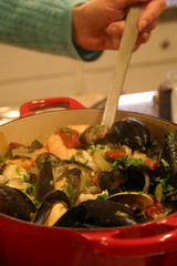 Seattle Shellfish Stew with Kale and Guanciale
