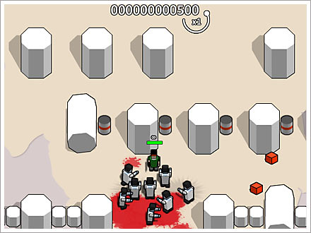 boxhead zombie game screenshot