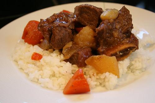 Korean short rib stew (galbi jjim)