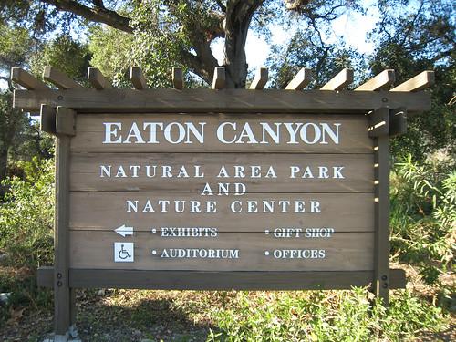 Eaton Canyon sign
