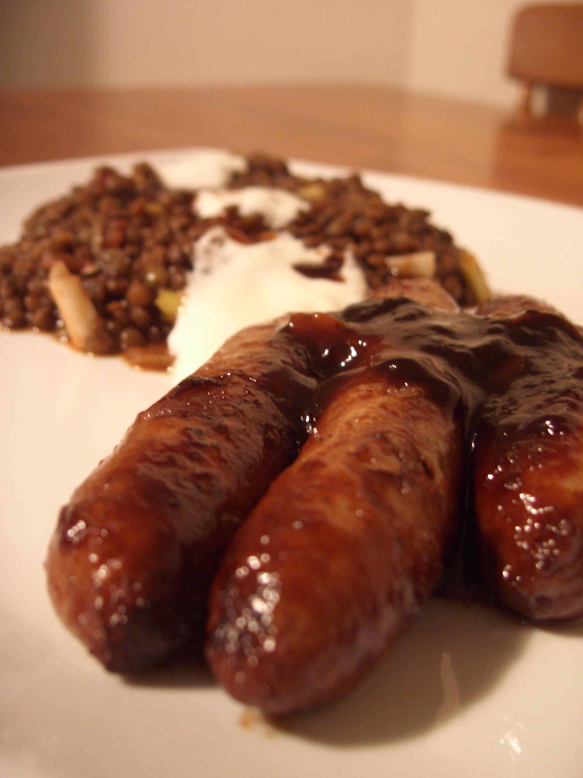 Sausages & Lentils