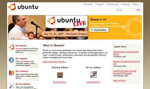 ubuntu.com screenshot