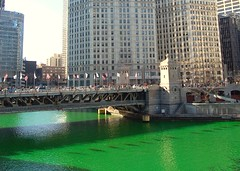 Chicago River Goes Green - St. Patrick's Day