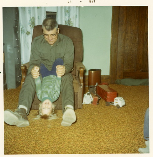 Me playing with my grandpa in January 1971