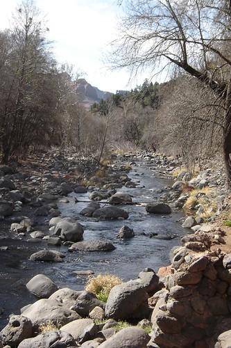 Oak Creek, view is downstream toward Sedona