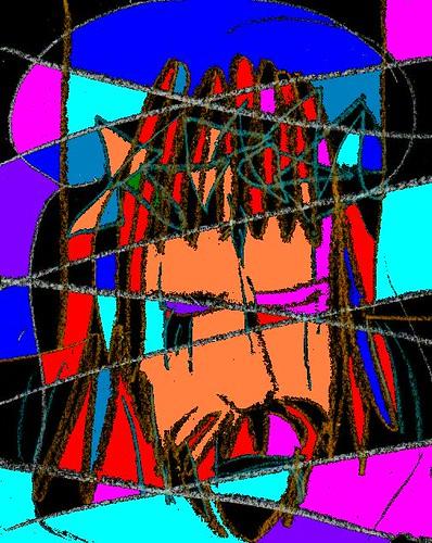 Anime artwork of Christ's face