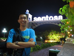On The Sentosa Bridge