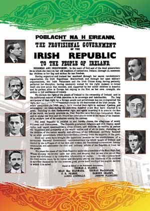 Versión ilustrada de la Proclamación de la República Irlandesa
