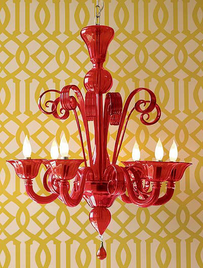 Reader Q: Red Glass Chandelier, Anyone?