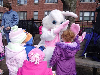 Easter Bunny High Five