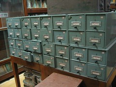 Gandhi Library card catalogue