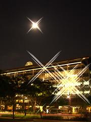 Sparkling moon over Suntec