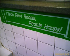 Clean Rest Rooms, People Happy, clean bathroom, sell your house quickly