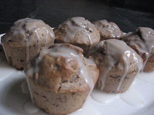 chai muffins with lemon glaze