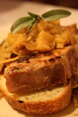 Salt-and-Vinegar Pork Chops with Sauerkraut