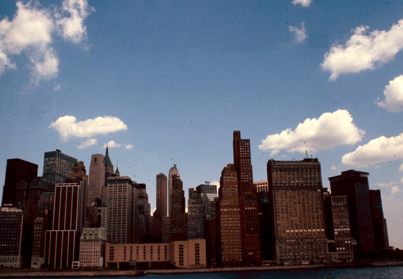 New York skyline, July 1980.