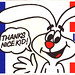 Trix Cereal Rabbit - Vote Yes Bumper Sticker - 1980