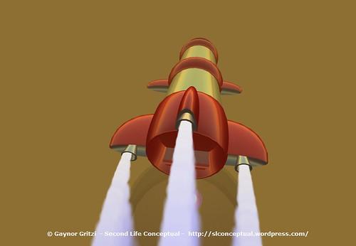 Retro Rocket Ship Disaster - Maiden Flight Crash 009