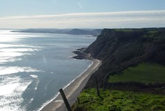 Looking west towards Sidmouth and Exmouth